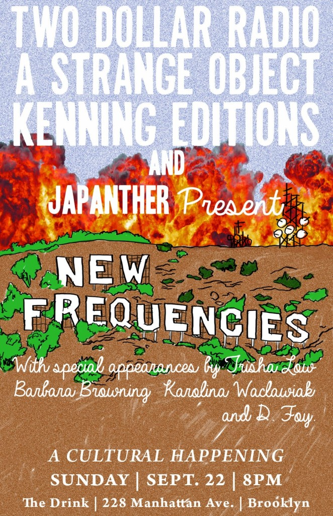 New Frequencies—a cultural happening after the Brooklyn Book Festival